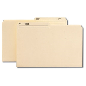 Smead 15329 Manila 100% Recycled File Folder, 1/2-Cut Tab Center Position, Legal