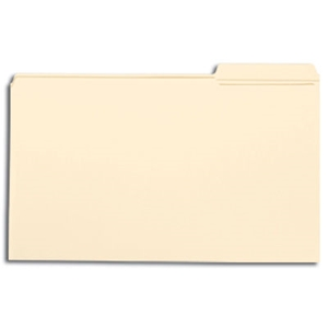 Smead 15337 Manila File Folder, Reinforced 1/3-Cut Tab Right Position, Legal