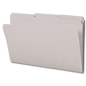 Smead 17334 Gray File Folder, Reinforced 1/3-Cut Tab, Legal