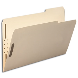 Smead 19538 Manila Fastener File Folder, 2 Fasteners, Reinforced 1/3-Cut Tab Right Position, Legal
