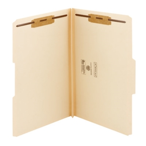 "Smead 19595 Manila Fastener File Folder, 2 Fasteners, Reinforced 1/3-Cut Tab, 1-1/2"" Expansion, Legal"