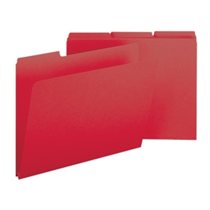 "Smead 21538 Bright Red Pressboard File Folder, 1/3-Cut Tab, 1"" Expansion, Letter"