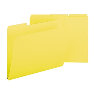 "Smead 21562 Yellow Pressboard File Folder, 1/3-Cut Tab, 1"" Expansion, Letter"
