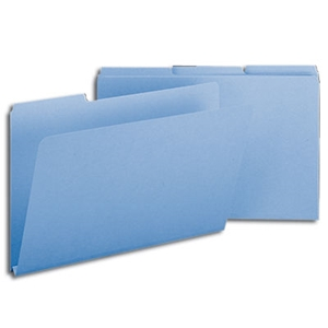 "Smead 22530 Blue Pressboard File Folder, 1/3-Cut Tab, 1"" Expansion, Legal"