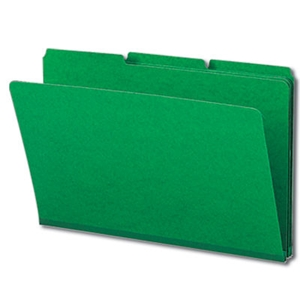 "Smead 22546 Green Pressboard File Folder, 1/3-Cut Tab, 1"" Expansion, Legal"
