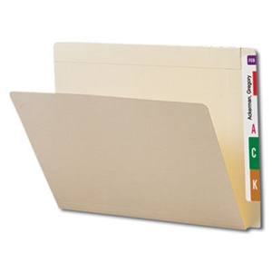 Smead 24190 Manila Conversion Folder Top and End Tab, Reinforced Straight-Cut Tab, Letter