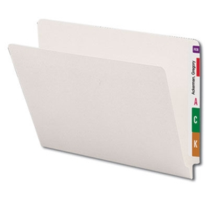 Smead 24506 Ivory End Tab File Folder, Straight-Cut Tab, Letter