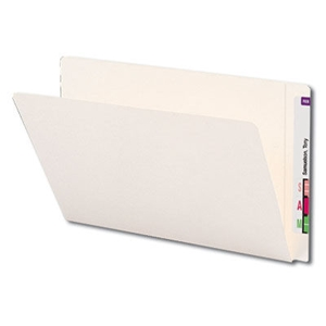 Smead 24559 Ivory End Tab File Folder, Reinforced Straight-Cut Extended Tab, Legal