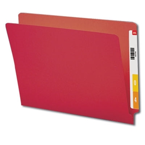 Smead 25710 Red End Tab File Folder, Shelf-Master Reinforced Straight-Cut Tab, Letter