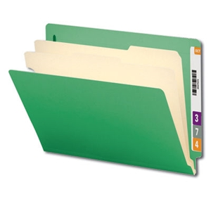"Smead 26837 Green End Tab Classification File Folder, 2 Dividers, 2"" Expansion, Letter"