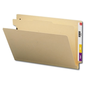 "Smead 29825 Manila End Tab Classification File Folder, 1 Divider, 2"" Expansion, Legal"