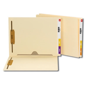 Smead 34101 Manila End Tab Fastener File Folder with Full Pocket, Reinforced Straight-Cut Extended Tab, 2 Fasteners, Letter