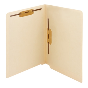 Smead 34120 Manila End Tab Fastener File Folder, Shelf-Master Reinforced Straight-Cut Tab, 2 Fasteners, Letter