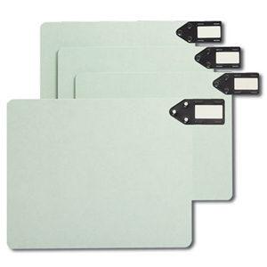 Smead 61757 End Tab 100% Recycled Pressboard Guides, Horizontal Metal Tab (Blank), Extra Wide Letter Size, Gopher Green
