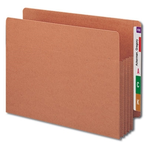 "Smead 73780 Redrope End Tab TUFF File Pocket, Reinforced Straight-Cut Tab, 3-1/2"" Expansion, Tyvek Gusset, Extra Wide Letter"