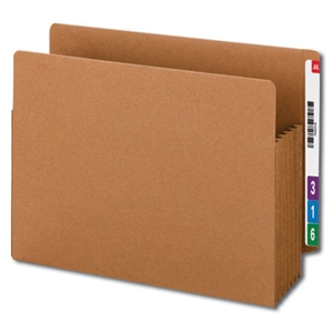 "Smead 73790 Redrope End Tab TUFF File Pocket, Reinforced Straight-Cut Tab, 5-1/4"" Expansion, Tyvek Gusset, Extra Wide Letter"
