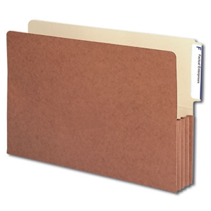 "Smead 74624 Redrope End Tab File Pocket, Reinforced 4""-High Tab Top Position, 3-1/2"" Expansion, Legal"