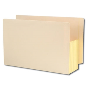 "Smead 76174 Manila End Tab File Pocket, Reinforced Straight-Cut Tab, 5-1/4"" Expansion, Tyvek-Lined Gusset, Legal"