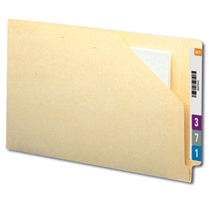 Smead 76700 Manila End Tab File Jacket, Shelf-Master Reinforced Straight-Cut Tab, Flat-No Expansion, Legal